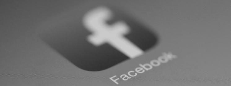 Facebook Logo schwarzweiß