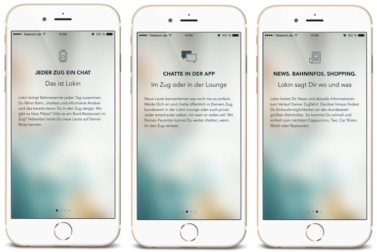 lokin | Screenshots vom Start der App