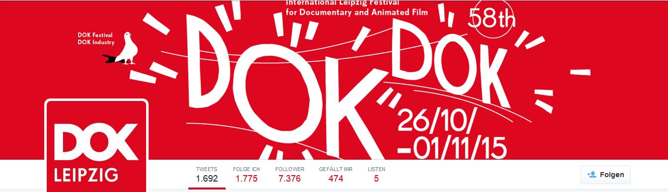Twitter Seite DOK Leipzig - Screenshot