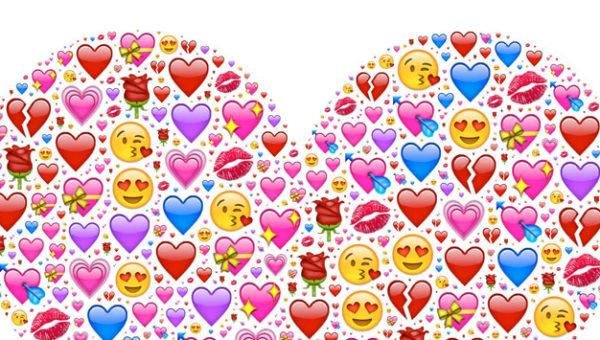 Emojis stellen Herz dar