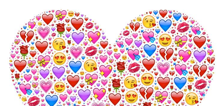 Herz aus Emojis
