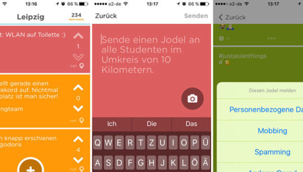 Screenshots Jodel App