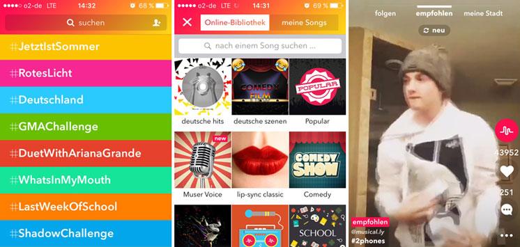 Screenshot der App musical.ly