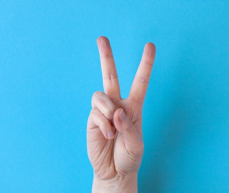 Handzeichen Victory