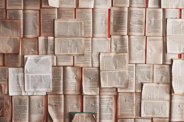 Viele aufgeschlagene Bücher