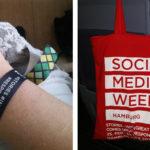 Social Media Week 2019: Eintrittsband und Tasche